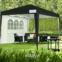Quictent Waterproof 10x10 Pop Up Canopy Outdoor Folding Party Tent Gazebo Black