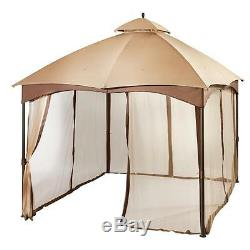 Rugged Outdoor 10' x 12' Double Roof Gazebo Tent with Steel Frame & Mosquito Net