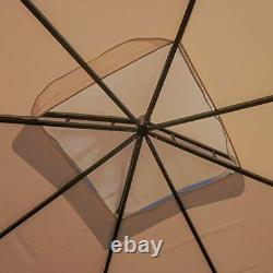 Sonoma Outdoor Fabric/Steel Gazebo Canopy in Light Brown Light Brown