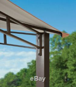 Steel Gazebo Garden Canopy Heavy Duty Large 12 x 12 Outdoor Permanent Pergola