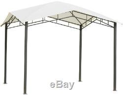 Steel Pergola Heavy Duty Gazebo White Canopy Outdoor Garden 10' x 10' Tent Shade