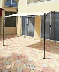 Steel Sunshade Awning Gazebo Canopy Outdoor Patio Garden Poolside Balcony Porch