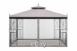 Sunjoy 10 x 12 Gazebo w Netting Outdoor Canopy Tent Patio Shade Wedding Garden