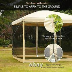 VIVOHOME 8'x8' Outdoor Gazebo Canopy Pop Up Party Tent Mesh Mosquito Net
