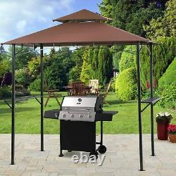 Vented Outdoor BBQ steel frame Grill Gazebo Canopy tent Backyard shelter Patio