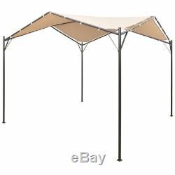 VidaXL Garden Gazebo 13' 1x13' 1 Beige Patio Outdoor Pavilion Tent Canopy
