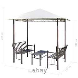 VidaXL Garden Pavilion with Table and Benches Outdoor Gazebo Tent Shelter