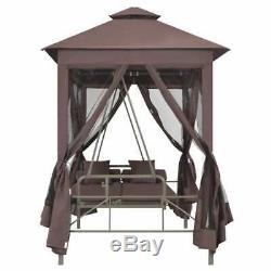VidaXL Gazebo Swing Chair Coffee Garden Outdoor Patio Seat Hammock Relaxer