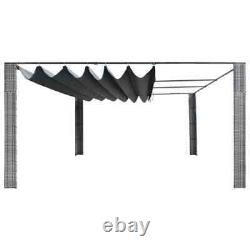 VidaXL Outdoor Pergola Gazebo Backyard Canopy Cover Adjustable Sunshade 157.4 A