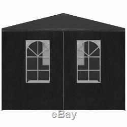 VidaXL Party Tent 9'10x19'8 Anthracite Outdoor Canopies Pavilion Gazebo