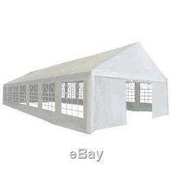 VidaXL Party Tent Heavy Duty PE 19.7'x46' White Outdoor Pop Up Gazebo Canopy