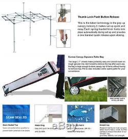 Waterproof 10x10 Ez Pop Up Canopy Outdoor Vendor Tent With Enclosure Side walls