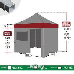Waterproof EZ Pop Up Canopy 10x10 Outdoor Commercial Party Instant Gazebo Tent