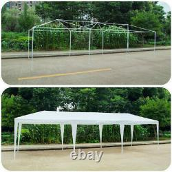 White 3m9m Heavy Duty Outdoor Canopy Party Wedding Gazebo Tent With Windows