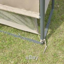 White Large 10 x 10 Patio Steel Gazebo Canopy Shelter Tent Netting Outdoor