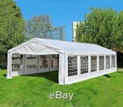 White Outdoor Tent Gazebo Canopy Wedding Party Show BBQ Camping Tent 20' x 40