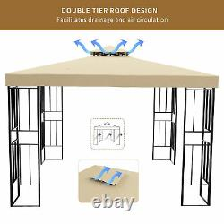 YITAHOME 10 x 10 Outdoor Canopy Gazebo Vented Garden Tent withSteel Frame Patio
