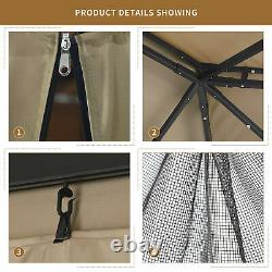 YITAHOME 10x12 Gazebo Canopy Party Outdoor Mosquito Net Party Tent Steel Frame