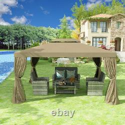 YITAHOME 10x13 Gazebo Canopy Party Outdoor Mosquito Net Party Tent Steel Frame