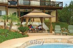 Z-Shade Prestige 13 X 13 Gazebo Beige Uv Resistant Canopy Outdoor Patio Garden